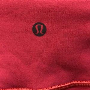 lululemon athletica Pants - Lululemon orange reversible to gray legging, sz 4,